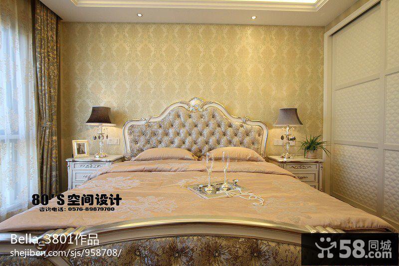 欧式风格主卧室壁纸装修效果图