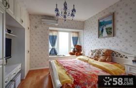 地中海一居室主人卧室效果图