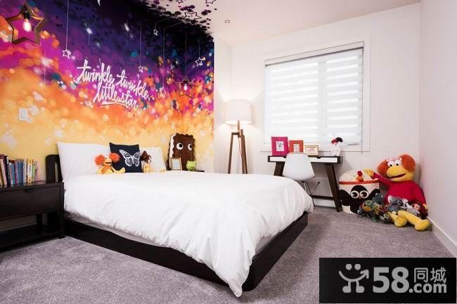 卧室背景墙纸