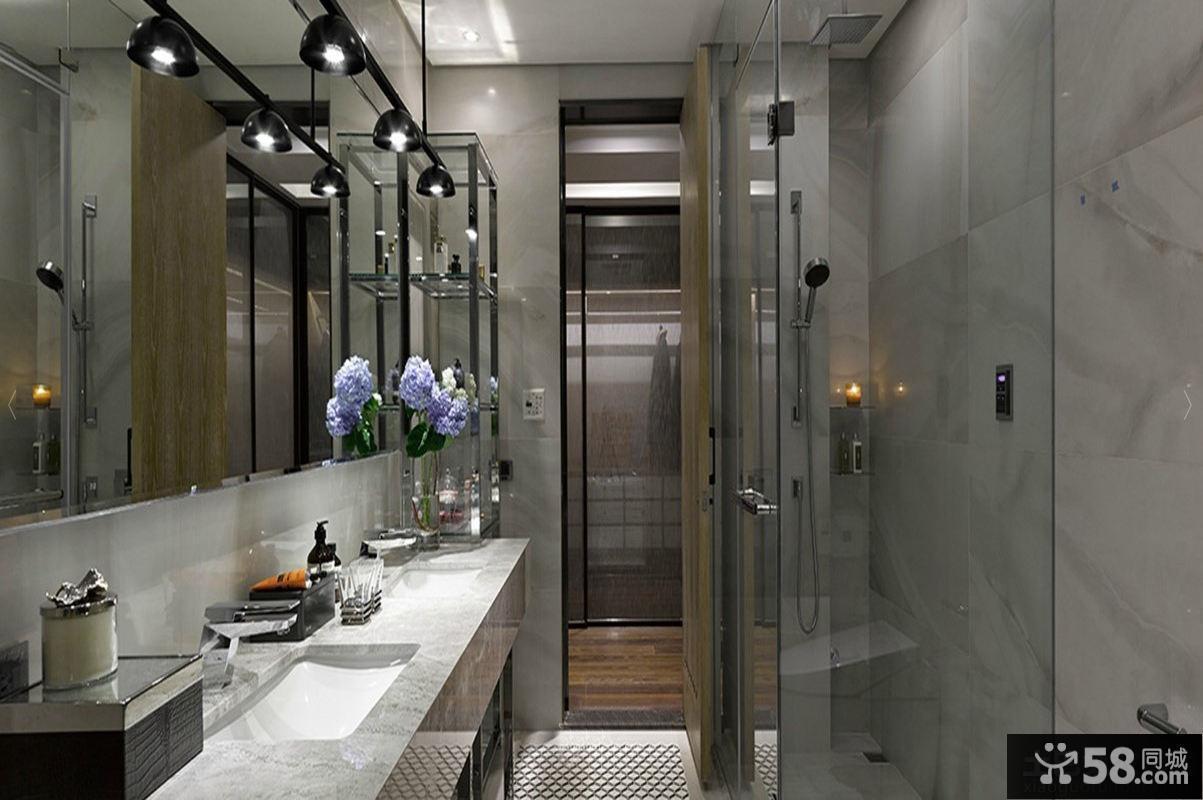现代风格装修卫生间图片欣赏