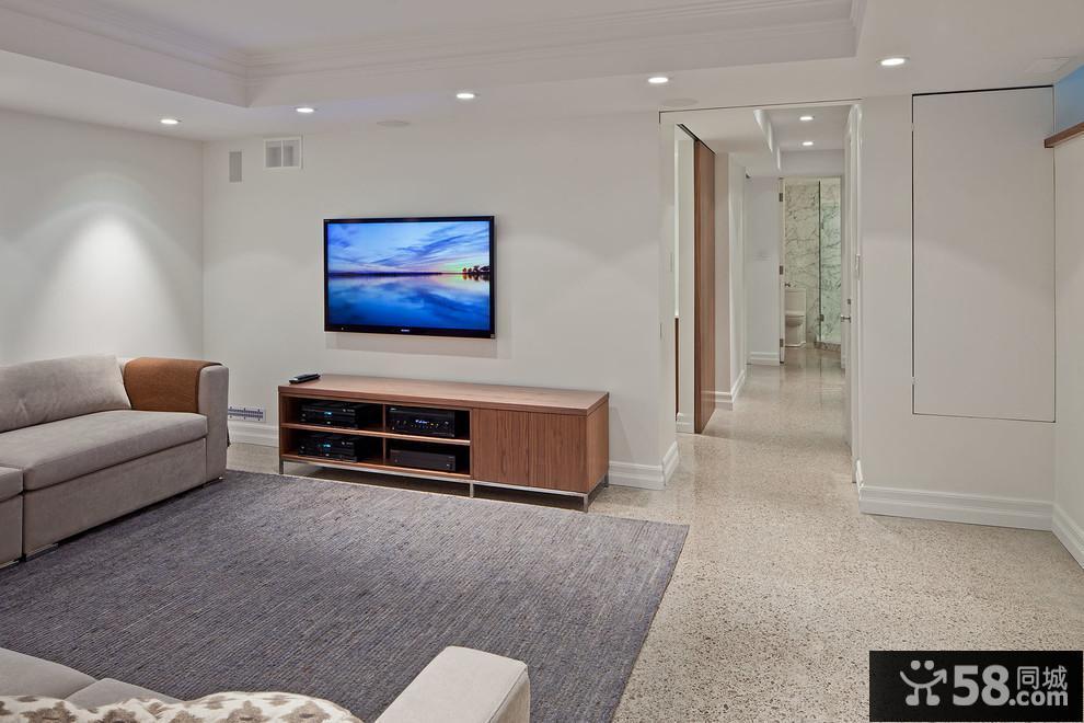 客厅不吊顶电视背景墙效果图