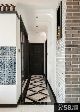 中式风格装修走廊玄关效果图