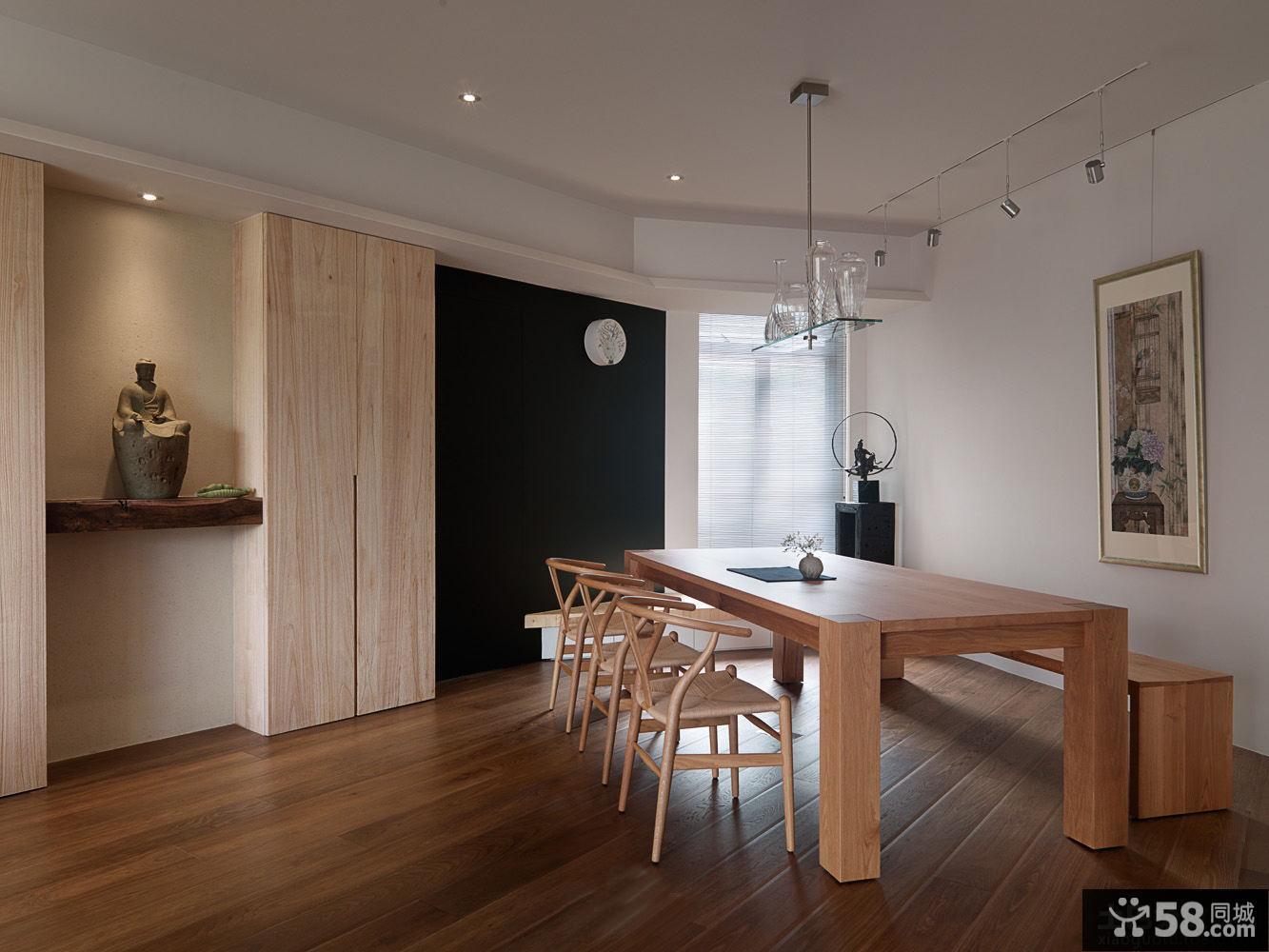 简约风格实木装修餐厅图片欣赏