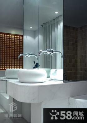 卫生间洗手台镜子效果图