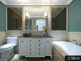美式轻古典卫生间装修设计