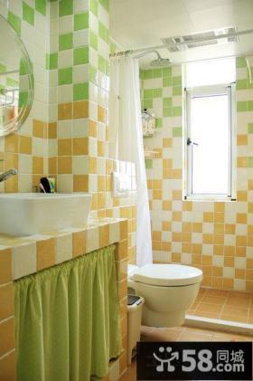小卫生间瓷砖颜色搭配效果图