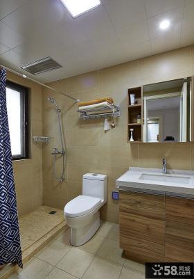 日式家庭卫生间装修效果图