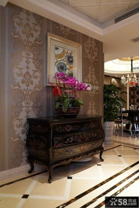 欧式玄关装饰柜效果图片