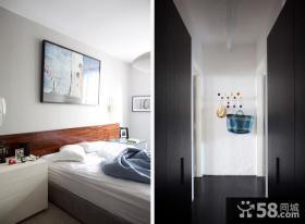 65平米简约小户型卧室装修效果图大全2014图片