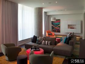 现代客厅沙发效果图片