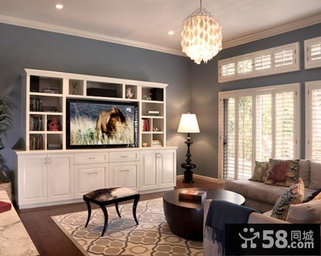 现代风格电视背景墙壁纸贴图