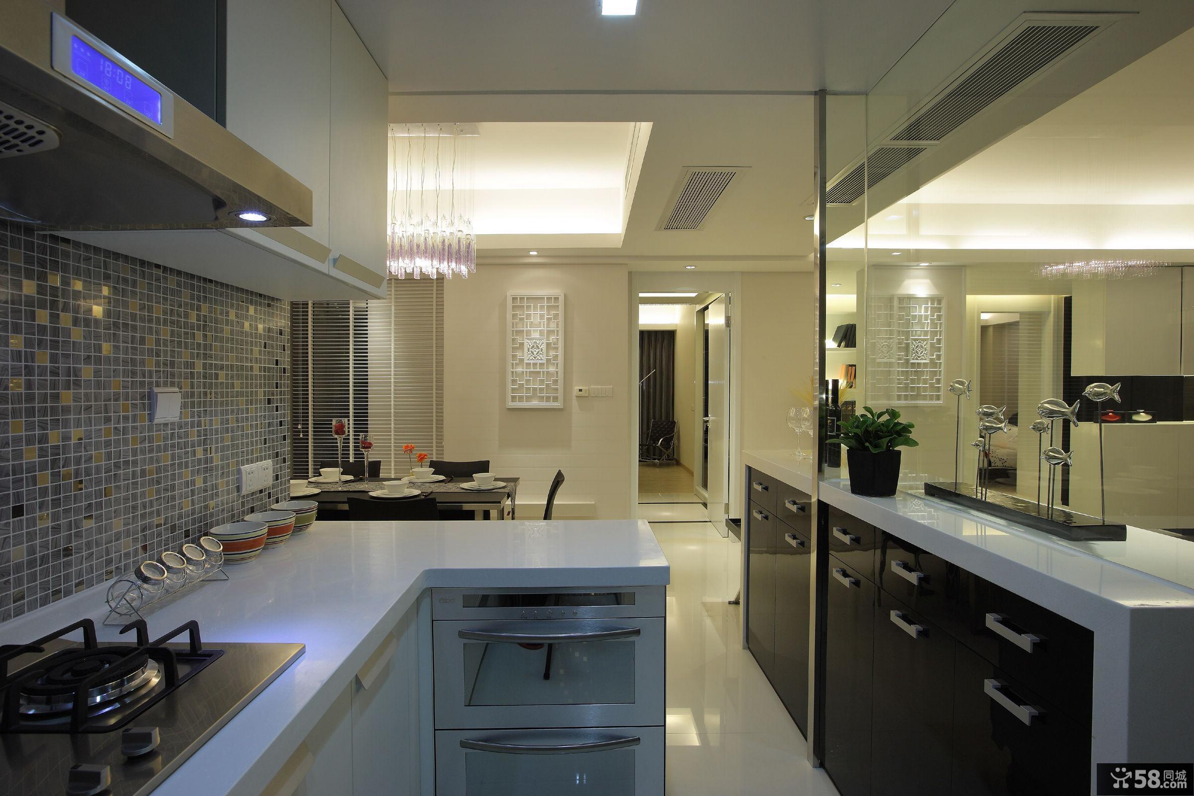 现代厨房隔断图片