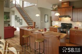 150平米复式楼厨房装修效果图大全2014图片