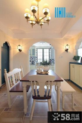 最新地中海风格餐厅装修效果图欣赏