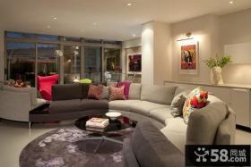 s型创意的客厅沙发装修效果图