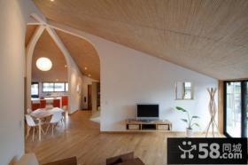 78平米文艺范极简的客厅装修效果图大全2014图片