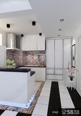 2012年厨房最新白色橱柜装修图片