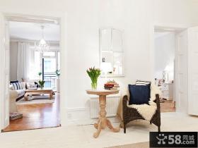 二室二厅清新客厅装修效果图大全2012图片