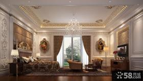 豪华宫殿一样的欧式风格客厅装修效果图大全2012图片