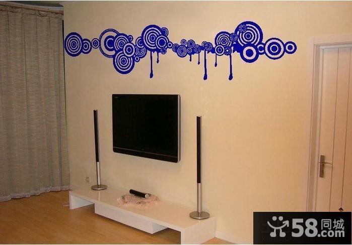客厅手绘墙画图片大全 - 58装修效果图