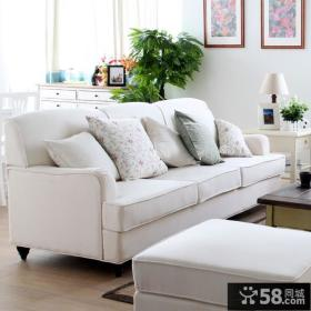 简约客厅三人沙发图片大全