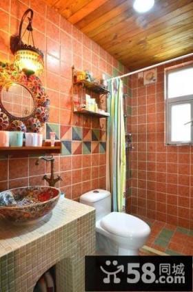 东南亚风格室内卫生间浴室装修效果图