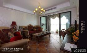 美式风格客厅沙发装饰效果图