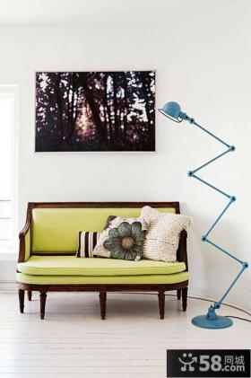 北欧风格休闲区沙发背景墙效果图