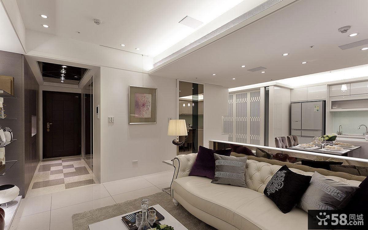 90平现代风格两室两厅装修效果图大全2014
