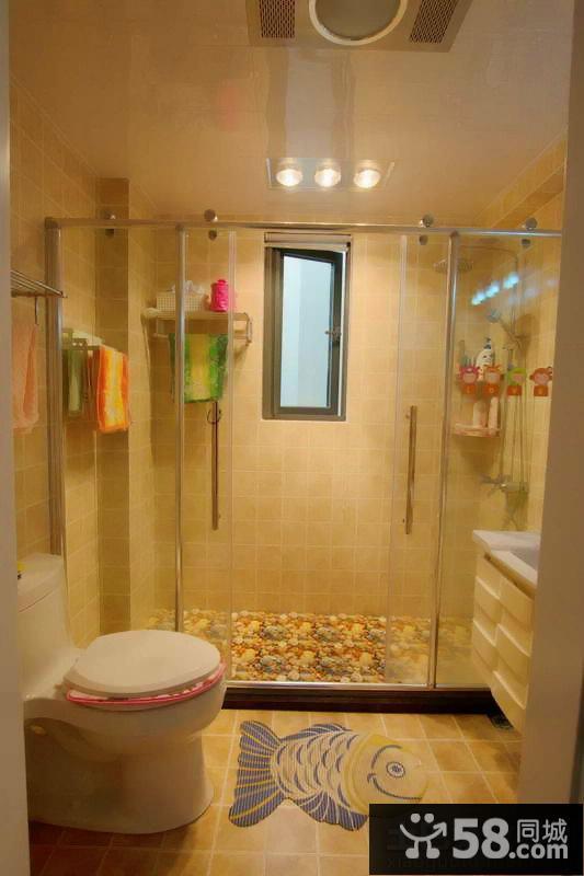 宜家风格家庭卫生间隔断图片