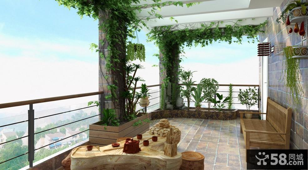 顶楼露天阳台设计 - 58装修效果图
