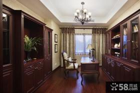 美式古典家居书房设计装修