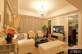 时尚欧式三室两厅客厅装修效果图
