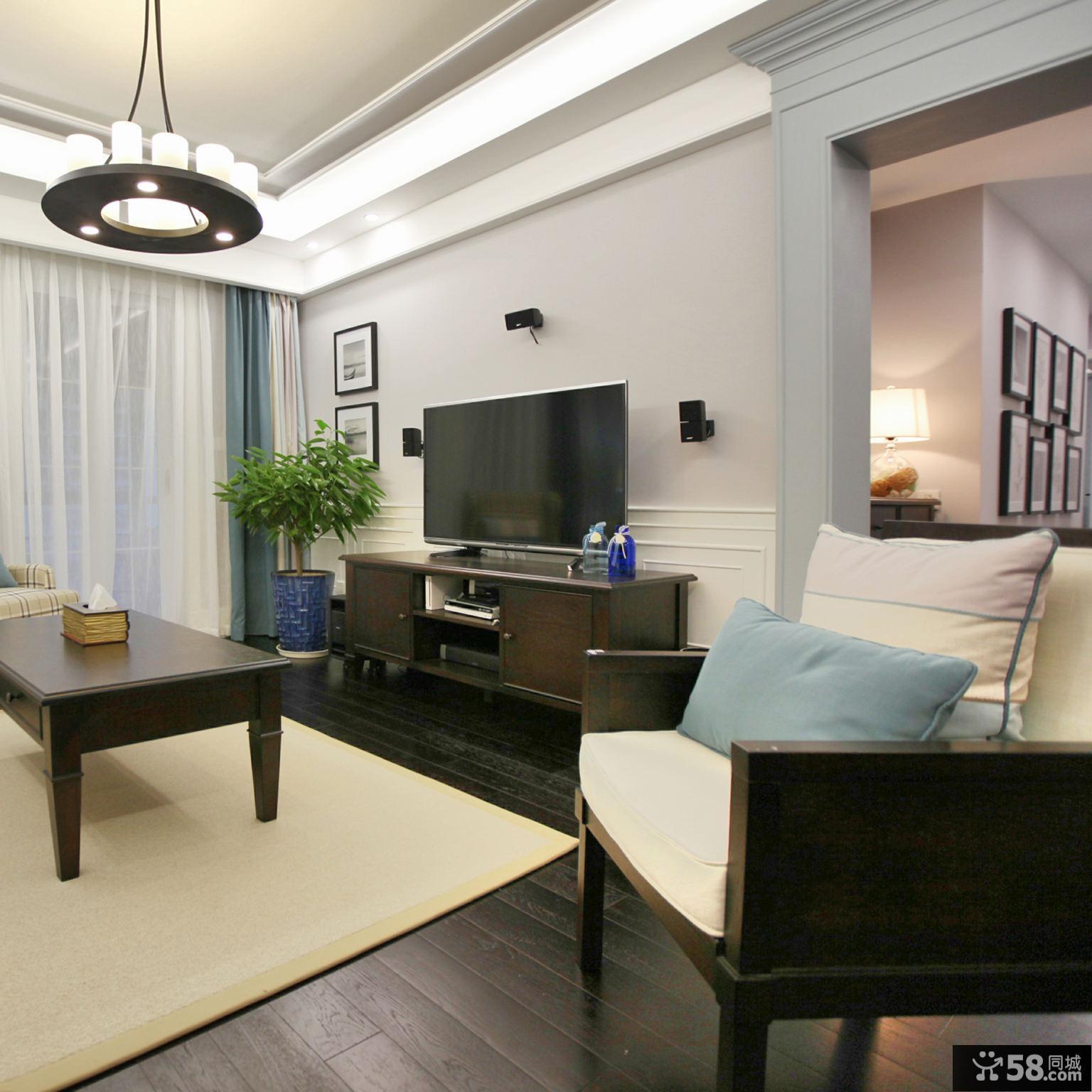 摩登美式三居装修案例