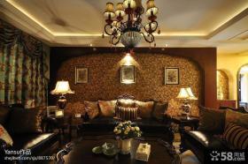 家装美式客厅吊顶效果图