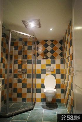 干湿分离卫生间瓷砖效果图欣赏