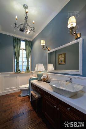 最新美式卫生间装修效果图欣赏