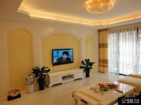 小户型客厅电视背景墙装修效果图