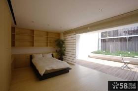 日式家庭时尚主卧室图片