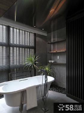 复古设计装修卫生间浴池图片欣赏