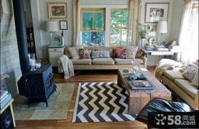 100平方二室二厅客厅装修效果图大全2014图片
