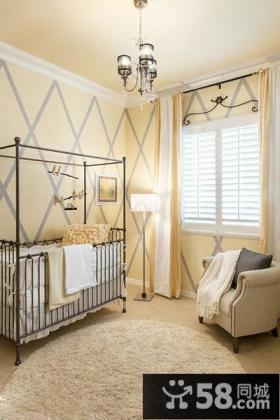 家装婴儿房布置效果图