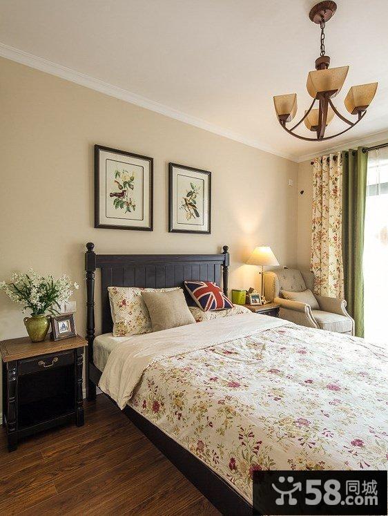 卧室贴墙纸装修效果图