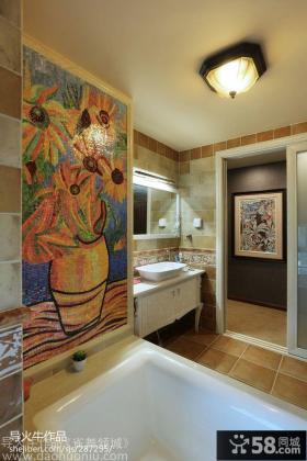 卫生间瓷砖装修效果图图片