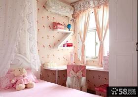 粉色系温馨舒适儿童公主房装修效果图