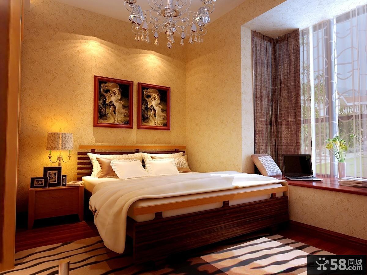 中式卧室装修设计效果图