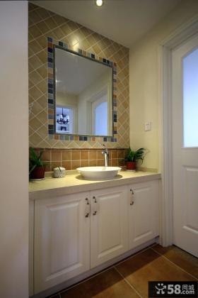 简欧式浴室柜图片