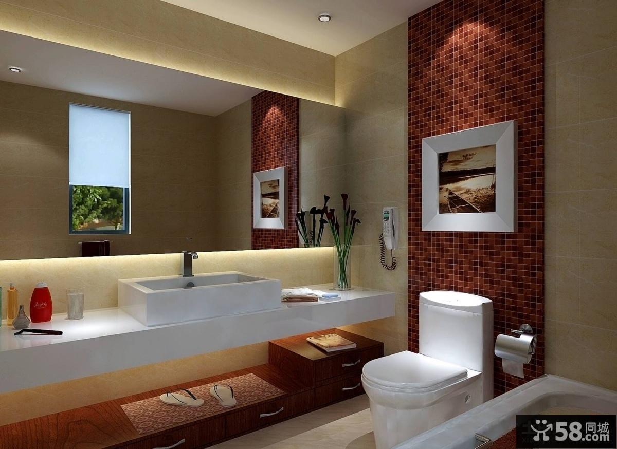 中式卫生间装修效果图欣赏
