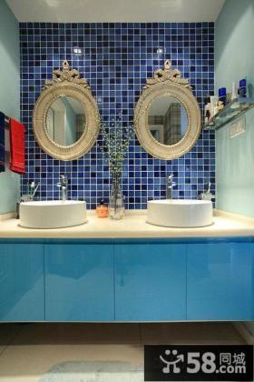 地中海卫生间洗脸盆装修图片