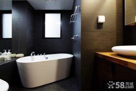 现代卫浴间装修效果图